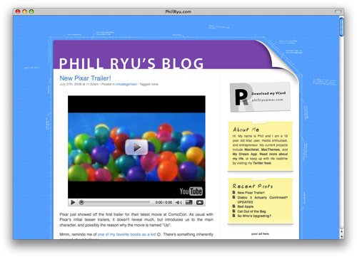 phillryu 100 Nice and Beautiful Blog Designs