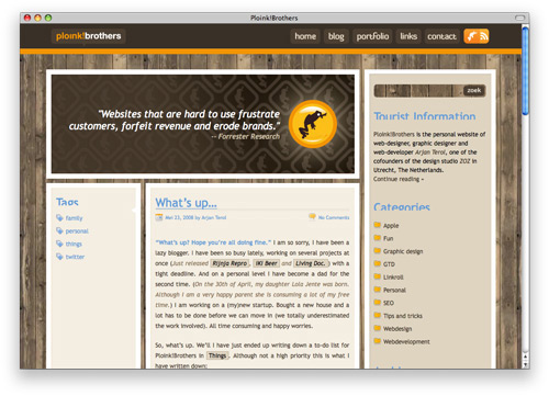 ploink 100 Nice and Beautiful Blog Designs
