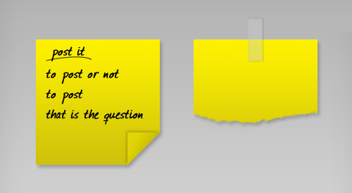 post it note 60 High Quality Photoshop PSD Files For Designers