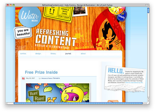 refreshingcontent 100 Nice and Beautiful Blog Designs