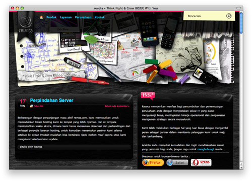 revota 100 Nice and Beautiful Blog Designs