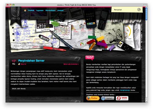 revota 100 Nice and Beautiful Blog Designs