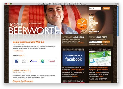 robert 100 Nice and Beautiful Blog Designs