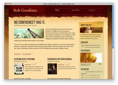 robgoodlatte 100 Nice and Beautiful Blog Designs