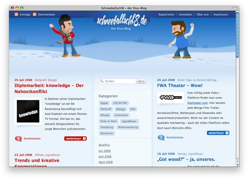 schneeballschl8 100 Nice and Beautiful Blog Designs