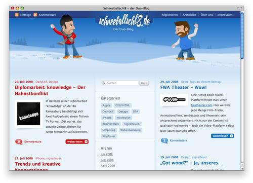 schneeballschl8 100 Nice and Beautiful Blog Designs