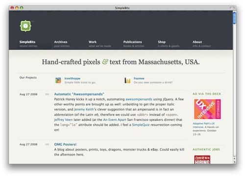 simplebits 100 Nice and Beautiful Blog Designs