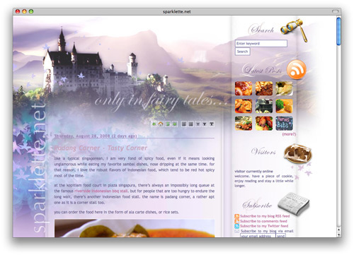 sparklette 100 Nice and Beautiful Blog Designs