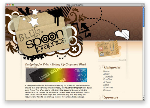spoon 100 Nice and Beautiful Blog Designs