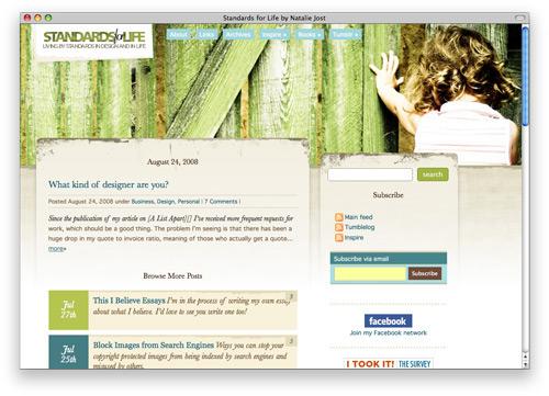 standardoflife 100 Nice and Beautiful Blog Designs