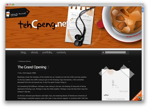 tehcpeng 100 Nice and Beautiful Blog Designs