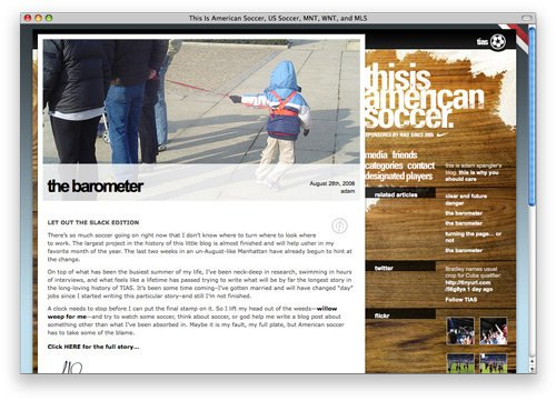 thisisamericansoccer 100 Nice and Beautiful Blog Designs