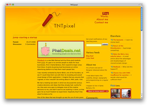 tntpixel 100 Nice and Beautiful Blog Designs