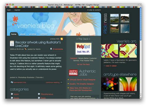 verlee 100 Nice and Beautiful Blog Designs