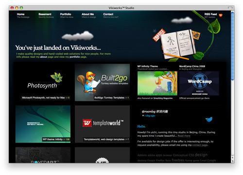 vikiworks 100 Nice and Beautiful Blog Designs