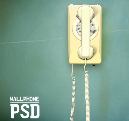wall phone 60 High Quality Photoshop PSD Files For Designers