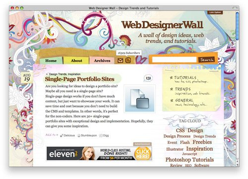 webdesignerwall 100 Nice and Beautiful Blog Designs