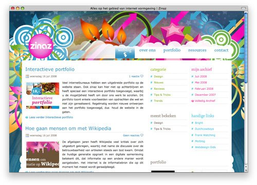 zinaz 100 Nice and Beautiful Blog Designs