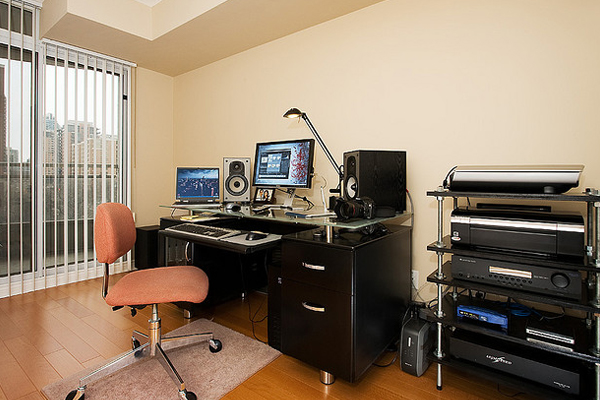 audio home office Inspirational Workspace: 60 Awesome Setups