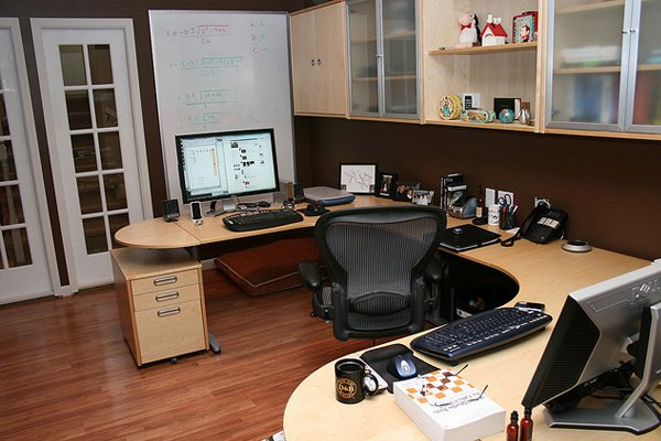 basement home office Inspirational Workspace: 60 Awesome Setups