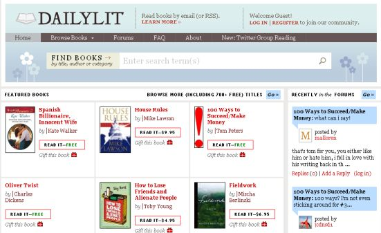 dailylit1 Best Entertainment Websites On The Web in 2011