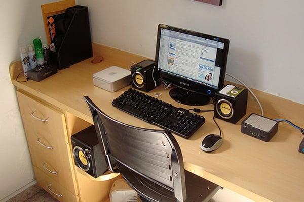 desk mac mini Inspirational Workspace: 60 Awesome Setups