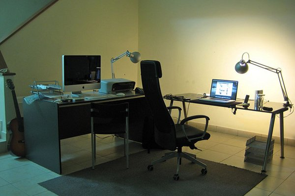 dual mac open workspace Inspirational Workspace: 60 Awesome Setups