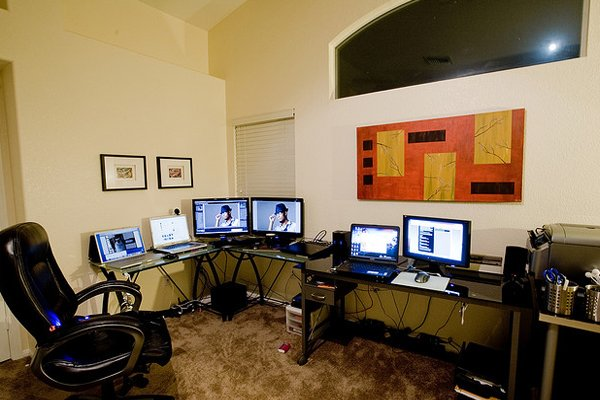 home office command center Inspirational Workspace: 60 Awesome Setups
