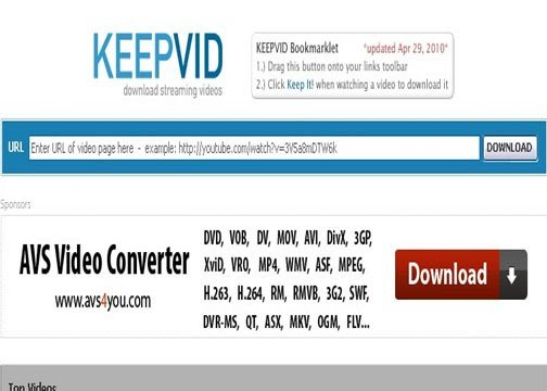 keepvid Best Entertainment Websites On The Web in 2011