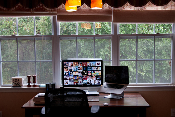 kitchen windows working area Inspirational Workspace: 60 Awesome Setups