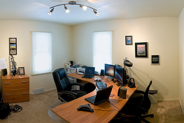 panoramic home office Inspirational Workspace: 60 Awesome Setups