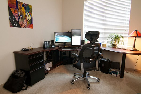 working home office theater Inspirational Workspace: 60 Awesome Setups
