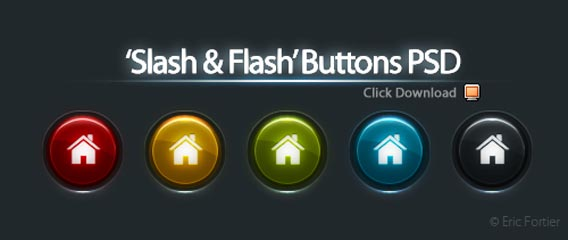 Home web buttons PSD file