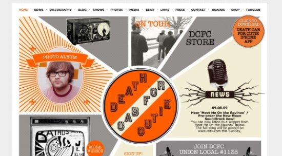 Best Websites Of Bands And Musicians for Design Inspiration