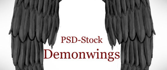 Demon Wings - PSD STOCK