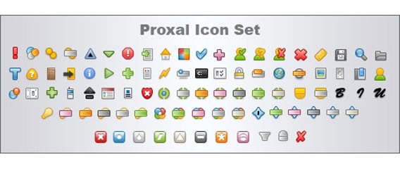 Proxal Icon Set v2 PSD file