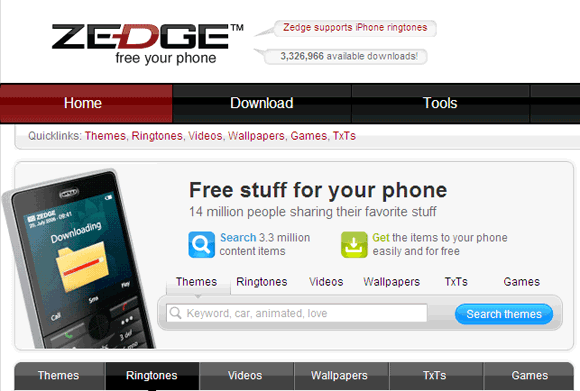 Zedge Top 10 Websites For Free iPhone Ringtones