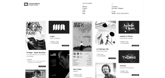 arnaudbeelen Showcase Of Beautiful Black And White Websites