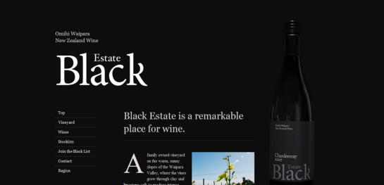 black Showcase Of Beautiful Black And White Websites