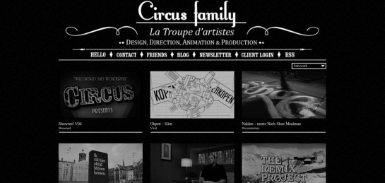 circus Showcase Of Beautiful Black And White Websites