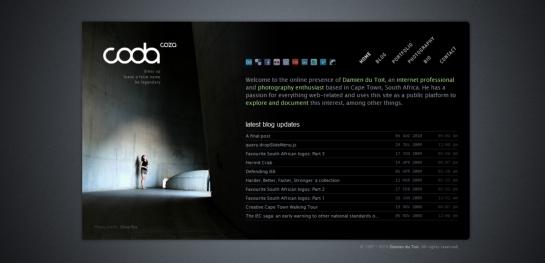 coda Showcase Of Beautiful Black And White Websites