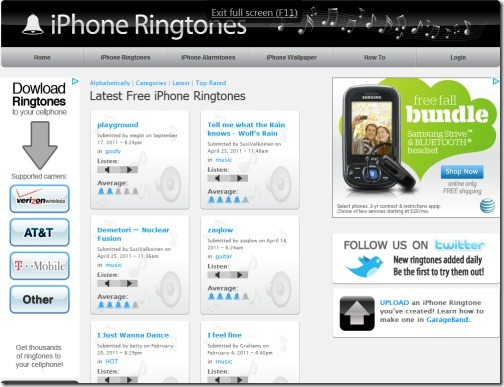 iPhone Ringtones thumb Top 10 Websites For Free iPhone Ringtones