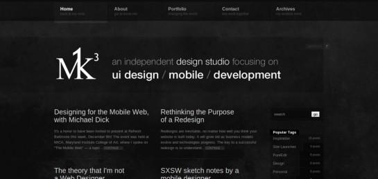 m1k3 Showcase Of Beautiful Black And White Websites