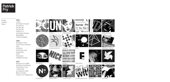 pat Showcase Of Beautiful Black And White Websites