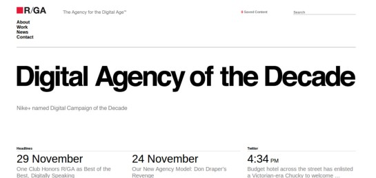 rga Showcase Of Beautiful Black And White Websites