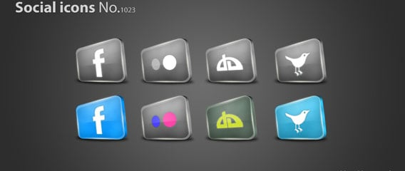 Social icons PSD File