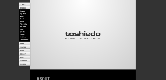 tosh Showcase Of Beautiful Black And White Websites