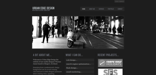 urb Showcase Of Beautiful Black And White Websites