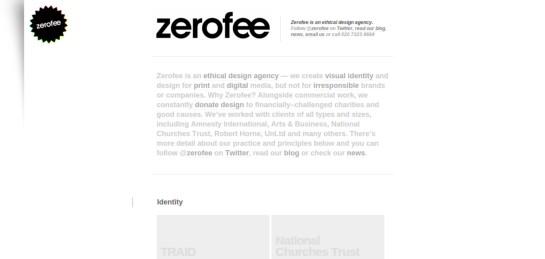 zerofee Showcase Of Beautiful Black And White Websites