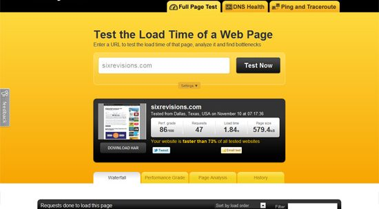20 Tools to Help you Create Quick Websites by Checking Site Loading Speed